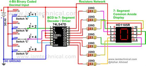 Bcd Segment Display Driver Lsd Connected With
