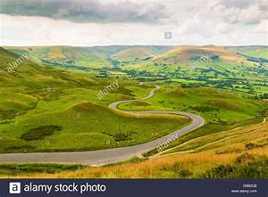 Winding Road from Mam Tor, Peak District, Derbyshire, UK ...