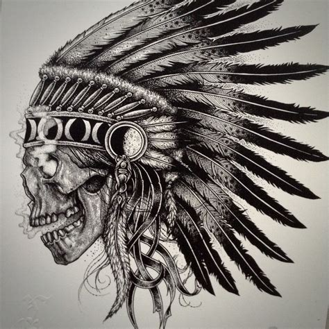 Image Skull Chief Ink Pinterest Tattoos