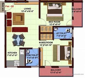 Plan For Two Bedroom Flat - [audidatlevante com]