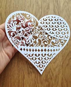 pattern heart papercutting template to With paper cut out art templates