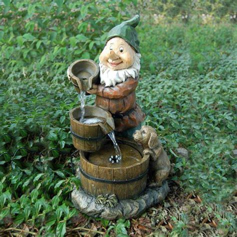 aqua moda solar gnome with and three barrels garden