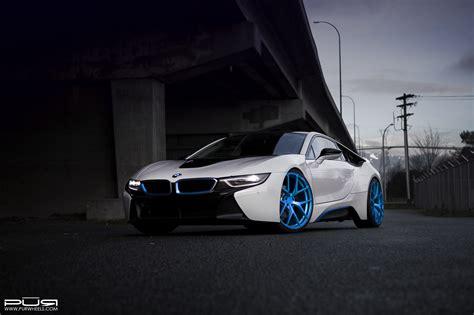 Bmw I8 Blue And White