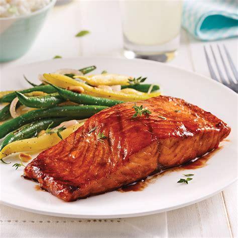 saumon cuisine filet de saumon sauce barbecue au vinaigre balsamique