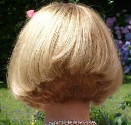 Short Stacked Bob Haircut Back View