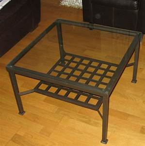 Petite Table En Verre : table basse ikea verre et fer forg le bois chez vous ~ Teatrodelosmanantiales.com Idées de Décoration
