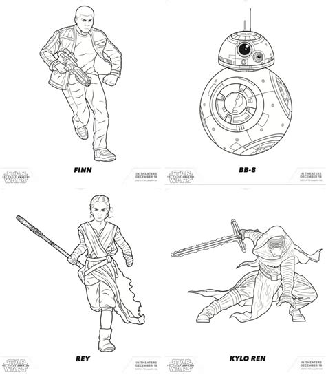 starwars coloring pages the awakens wars free coloring pages for