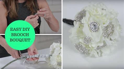 easy diy brooch bouquet    wedding project youtube