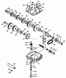 Bunton  Bobcat  Ryan 930001 Power Unit 14 Hp Kawasaki Gear Drive Parts Diagram For Peerless