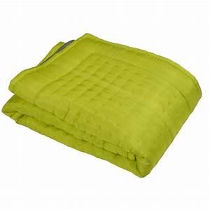 Couvre Lit Vert : boutis couvre lit en soie vert ~ Teatrodelosmanantiales.com Idées de Décoration