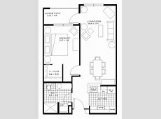 One Bedroom Apartments Plans Home Design