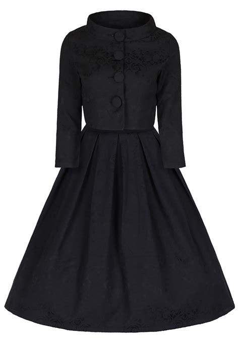 black swing dress  ord marianne dress  jacket