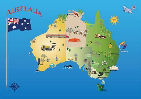 Australien Sehenswürdigkeiten-map - Karte von Australien ...