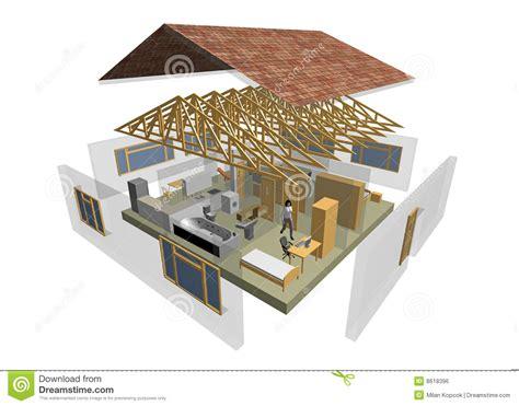 maison 4 chambres 3d house stock illustration image of designer