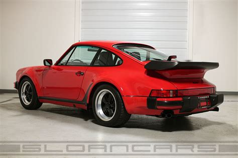 turbo porsche red 1987 porsche 911 turbo guards red 22 950 miles sloan cars