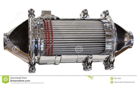Catalytic Converter And Particle Filter Stock Photo
