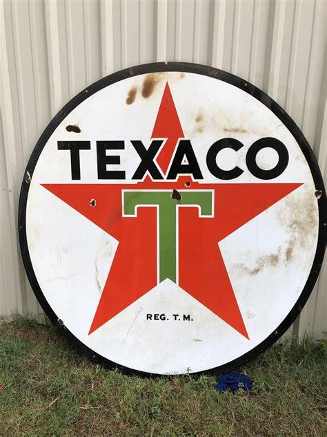 1938 Round Texaco Sign | Street Dreams