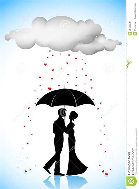 couple  umbrella  love rain stock  image