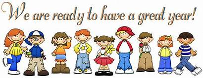 Clipart Going Ready Kindergarten Elementary August Welcome