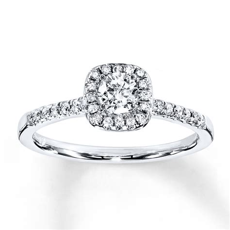 engagement ring 3 8 ct tw cut 10k white gold 940284514 sterlingjewelers