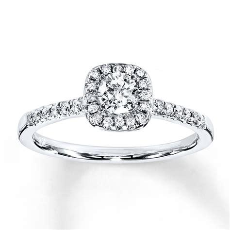 wedding rings kays diamond engagement ring 3 8 ct tw cut 10k white gold 940284514