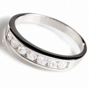 diamondaura sterling silver classic channel set ring 13950 With stauer wedding rings
