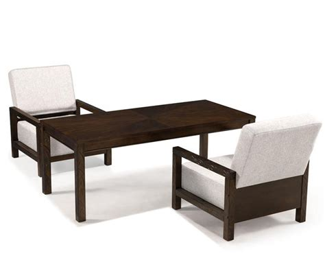magnussen rectangular cocktail table and 2 chairs cavelle