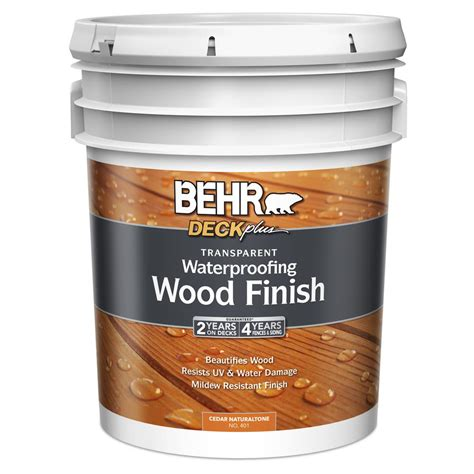 Behr Transparent Waterproofing Wood Finish Clear