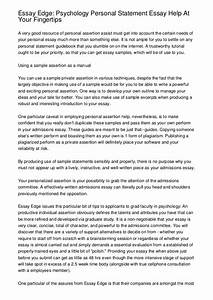 End Personal Statement Analysis Essay Format How To End Personal