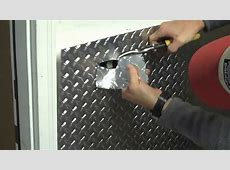 Part 1 Installing aluminum diamond plate wall panels in
