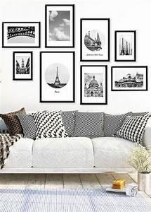 Cadre Noir Et Blanc : 1001 conseils et id es pour arranger un mur de cadres parfait ~ Teatrodelosmanantiales.com Idées de Décoration