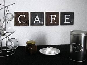 Lettres decoratives cafe pour une decoration murale de for Deco murale cuisine
