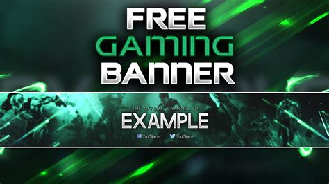 gaming banner template   photoshop cc