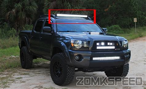 tacoma light bar 05 15 toyota tacoma 40 quot curved led light bar factory roof