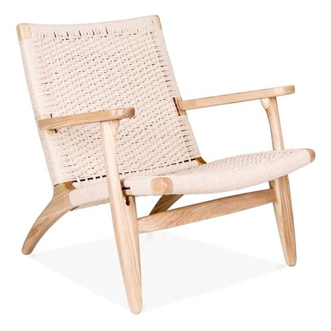 hans j wegner ch25 chair in wood with seat