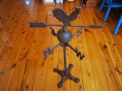 Vintage Style Rustic Cast Iron Rooster Weather Vane Ebay