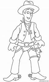 Cowboy Coloring Printable Pages Template Cool2bkids Lariat Templates sketch template