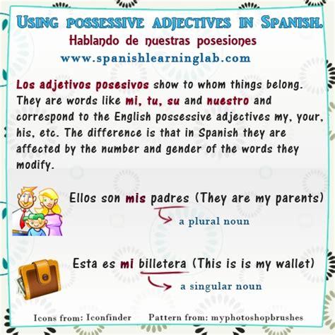 Adjetivos Posesivos In Spanish  Using Possessive