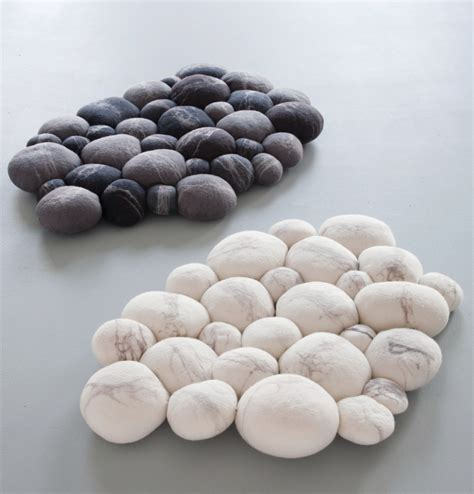 Pebble Doormat by Products Ronel Jordaan Wool Design
