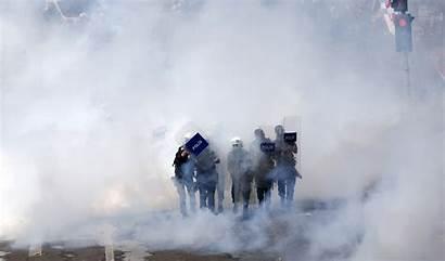 Riot Police Anarchy Revolution Crowd Dark Fire