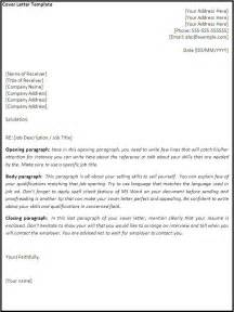 A Cover Letter Exle Cover Letter Template Free Formats Excel Word