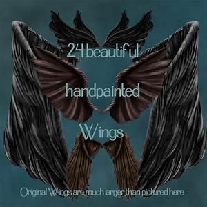 Dark Angel Wings 3D Models 2D Graphics antje