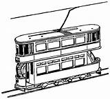 Train Coloring Tram York Trains Clipart Printable Outline Colouring 9d66 Cartoon Cliparts Drawing Passanger Loader Drawings Town Toy Library Skyline sketch template