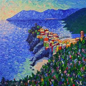 Vernazza Light Cinque Terre Italy Modern Impressionist ...