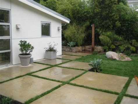 modern concrete squares for patio for the home