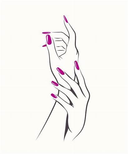 Nail Manicure Hands Woman Polish Vector Salon