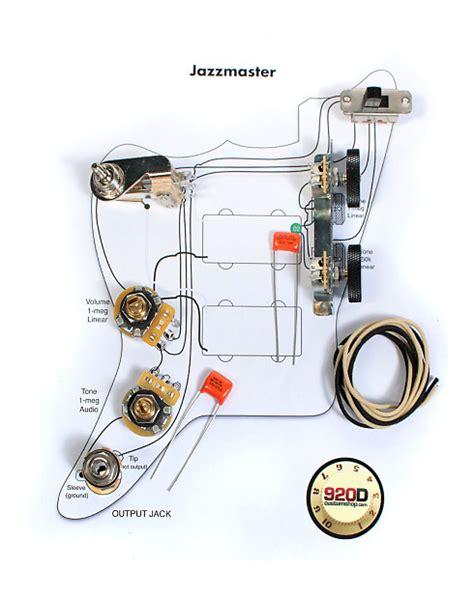 fender vintage jazzmaster wiring kit pots switch slider