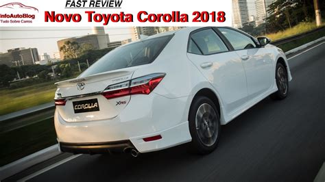 novo toyota corolla  fast review youtube