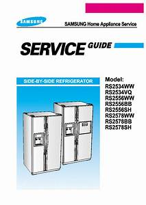 Samsung Rs2534 Rs2556 Series Side By Side Refrigerator Usa
