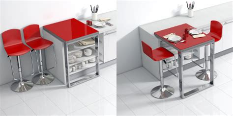 table cuisine modulable une table bar modulable qui se glisse sur votre plan de